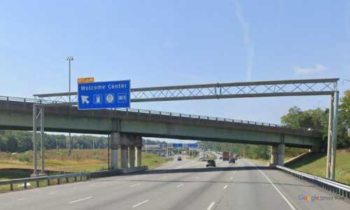 de interstate 95 delaware i95 turnpike service plaza welcome center southbound mile marker 5 exit